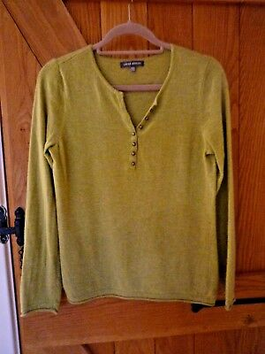 Laura Ashley Jumper. Pale Green. Uk 12. With Wool & Cashmere
