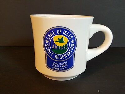 Vintage Lake of Isles Long Rivers Connecticut Coffee Mug Cup