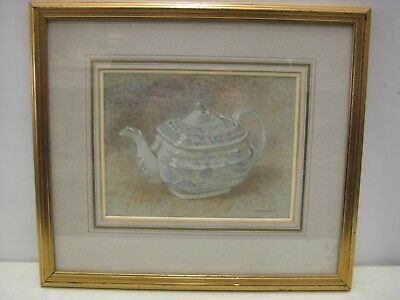 Art Framed original painting Picture of teapot by Charlotte Halliday