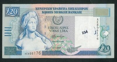 CYPRUS 20 Pounds (2004) banknote