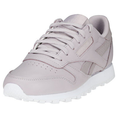 eca908c480ddd REEBOK CLASSIC LEATHER Ps Pastel Womens Light Pink Leather Trainers ...