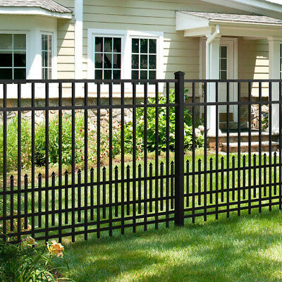 Aluminum Fence Panel Puppy Guard Add-On Panel in Black 3/4 in. x 1.5 ft. x 6 ft.