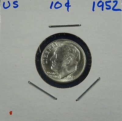 1952 Roosevelt Dime 90% Silver High Grade Uncirculated - Low Shipping