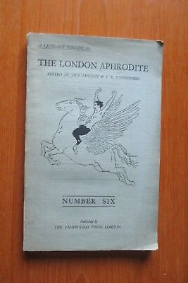 july 1929 THE LONDON APHRODITE LITERARY MAGAZINE NUMBER 6 JACK LINDSAY