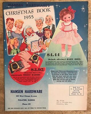Vintage 1955 Hansen Hardware's Christmas Book - Toys - Dolls - Housewares  Color