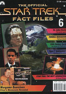 Star Trek Fact Files Issue 6 - Part Work Fabbri Publishing 1997 Enterprise Spock