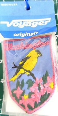"""Lot of 10 Vintage 1980s VOYAGER """"Washington"""" (with Goldfinch) Souvenir PATCH"""
