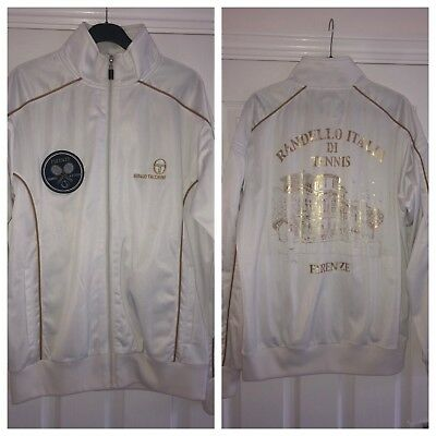 Official Sergio Tacchini Firenze Italy Tennis Club Tracktop Size Large Very Rare