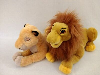 "The Lion King Disney Store Large 22"" Simba Adult Puppet & 21"" Sarabi Plush Toys"