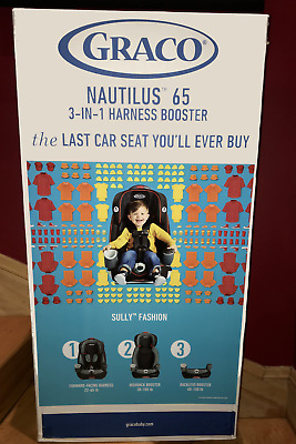 Graco Nautilus 65 3-in-1 Harness Booster Car Seat / Sully Fashion / 22 to 100 LB