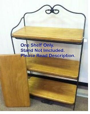 Custom Made Wood Shelf Only for the Longaberger Wrought Iron Bread Rack
