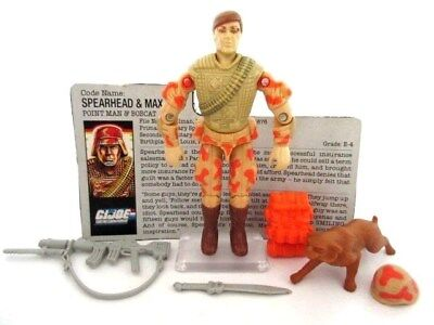 Action Force GI Joe Cobra ☆ SPEARHEAD + MAX ☆ Figure Rare Hasbro Vintage 88 100%