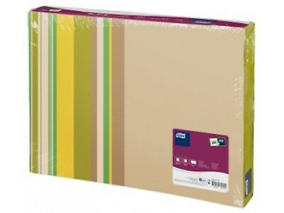 Tork 477452-40 Natural Milano Patterned Paper Placemats  -2 packs of 500