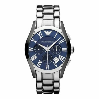 BRAND NEW Emporio Armani Blue Dial Stainless Steel Chronograph Mens Watch AR1635