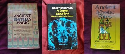Lot of 3 Egyptian Magick Books Magic Witchcraft ancient Occult