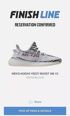 Adidas Yeezy 350 Boost V2 Zebra Size 9 Brand New In Box Finish Line Confirmed