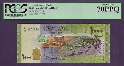 **1000 Pounds of Perfection** Syria P-116 2013 PCGS 70PPQ