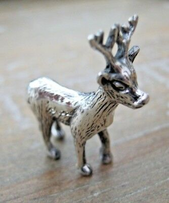 Pretty Miniature English Hallmarked Santas Reindeer Deer Stag Rudolph