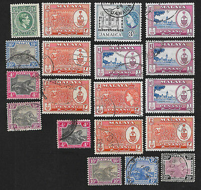(111cents) Malaya Small Collection of used Stamp x19