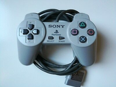 Official Sony PlayStation 1 PS1 Controller SCPH-1080 Wired Gray TESTED FREE SHIP