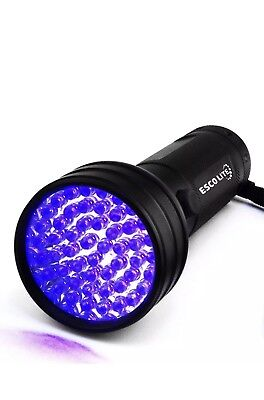 Escolite UV Flashlight Black Light, 51 LED 395 nM Ultraviolet Blacklight