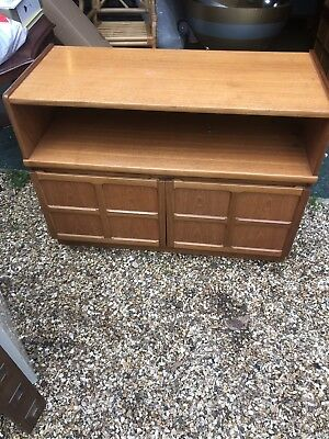 Vintage Nathan Retro Teak Tv Audio Stand Cabinet 40 inch