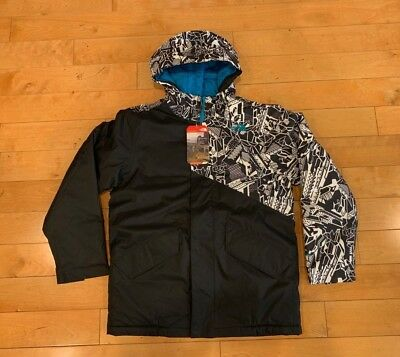 The North Face Kids B Calisto Insulated Jacket Black Teal Kids Youth Size Large