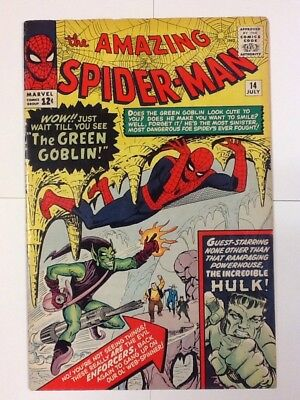 Amazing Spider-Man #14 Vol 1 1st Appearance of the Green Goblin 6.5-7.5