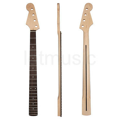 Kmise Left Hand Electric Bass Guitar Neck for Jazz Bass Replacement 21 Fret