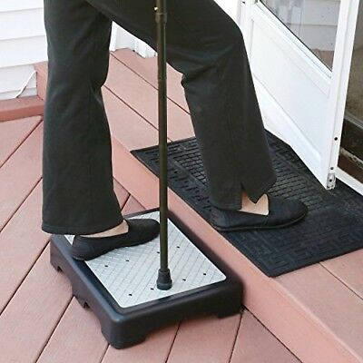 "Indoor Outdoor Medical Support Riser Step Non Slip All Weather 3 1/2"" High 400Lb"