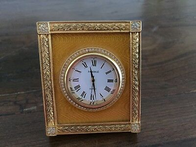 "House of Faberge ""The Catherine  Palace Clock""  Yellow Guilloche'"