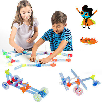 90 pc Brackitz STEM Hero Building Set: Education Learning Fun Engineering Blocks