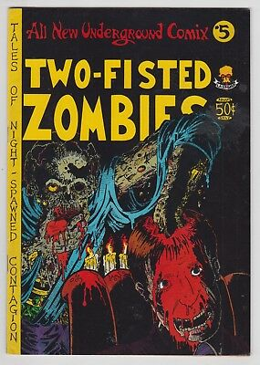 Two-Fisted Zombies #1, RICK VEITCH, TOM VEITCH, Underground, 1973 FINE  r