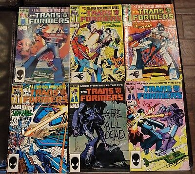FOR FANS OF THE 1980'S! Transformers 1st Series Comic Lot Issues #1 to #6