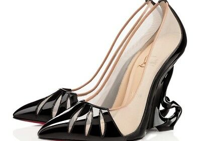 9965d319f0f3 Christian Louboutin 38 Limited Edition Malangeli Maleficent Wedge Pumps  Black