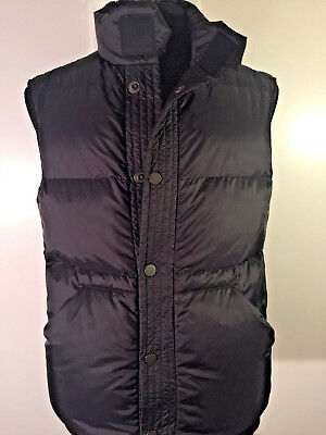 *peuterey* New Men's Puffer Down Vest Black Made In Italy Size M