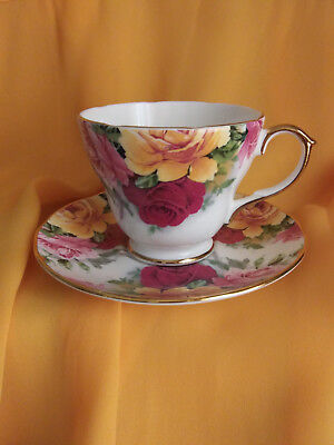 Collectible Vintage Crown Trent Fine Bone China Tea Cup And Saucer Set, England.