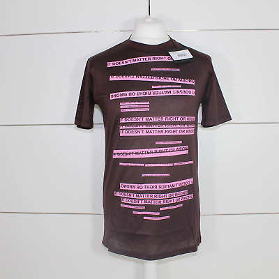 Lanvin 'It Doesnt Matter Right Or Wrong' Printed Burgundy T-Shirt
