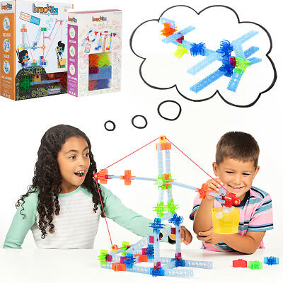 105pc Brackitz STEM Pulley Inventor Set: Kids Educational Learning Sets