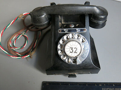 1940s 50s Bakelite Telephone Bell On Bell Off Type Spares or Repair with Drawer
