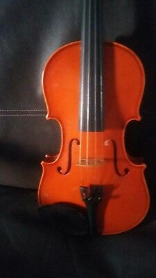 Violin 4/4 outfit excellent condition inlaid purfling flamed Maple back Quality