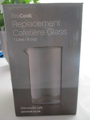 Procook Replacement Cafeteire Glass 1 Litre Size 8 Cup Brand New In Box