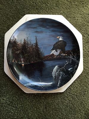 Sentinel Of The Night by Jim Hansel World Of The Eagle Bradford Exchange Plate
