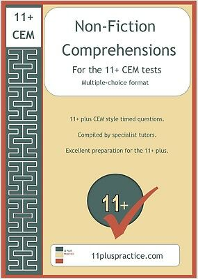 11+ Eleven Plus CEM Non-Fiction (Mock Paper) Comprehensions Electronic Exam/Test