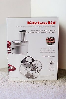 USED KitchenAid KSM2FPA 13C Food Processor Attachment for Stand Mixer