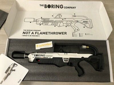 The Boring Company Not A Flamethrower - NEW * LIMITED EDITION * ELON MUSK
