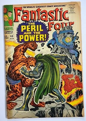 FANTASTIC FOUR VOL 1 #60  SILVER-AGE MARVEL COMIC MAR 1967 The Peril & the Power