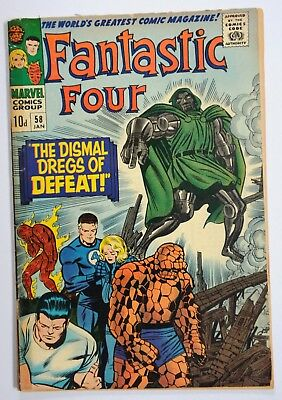 Fantastic Four Vol 1 #58  Silver-Age Marvel Comic Jan 1967