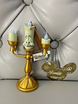 """New Disney Parks Exclusive Beauty & The Beast's  """"lumiere""""  Light Up Ornament"""