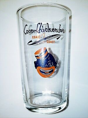 "Vintage Coon Chicken Inn 4.25"" Advertising Glass in perfect condition"